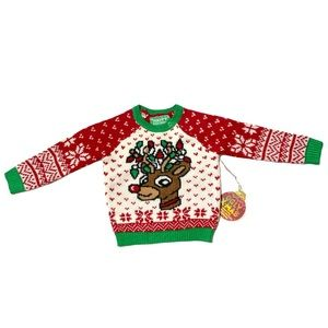 Happy Holidays Sweater Christmas Knitted Sz 6-12M